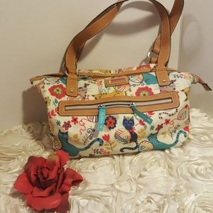 Lily Bloom Cat Satchel Purse